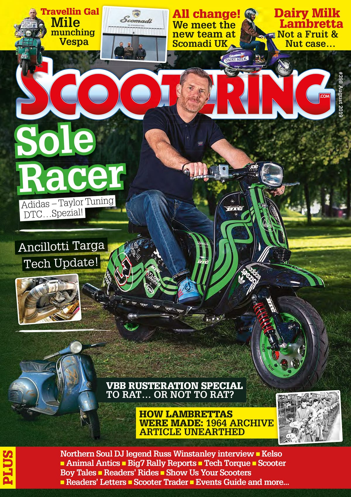 Scootering magazine August cover
