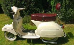 1967 genuine italian import. Rare sought after model. I have owned this scooter for 16 year since import. Recent £800 engine rebuild, bearings, clutch etc at Armandos Sheffield. 12 volt electrics, alloy wheels, whitewall tubeless tyres, sports silencer. Bespoke leather seat/backrest. To be run in. MOT and TAX exempt.