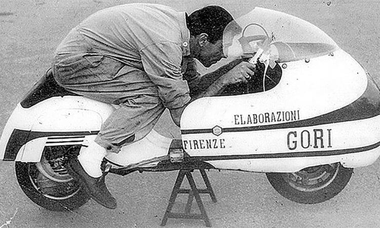 Giancarlo Gori cracked the 150 km/h mark in 1967